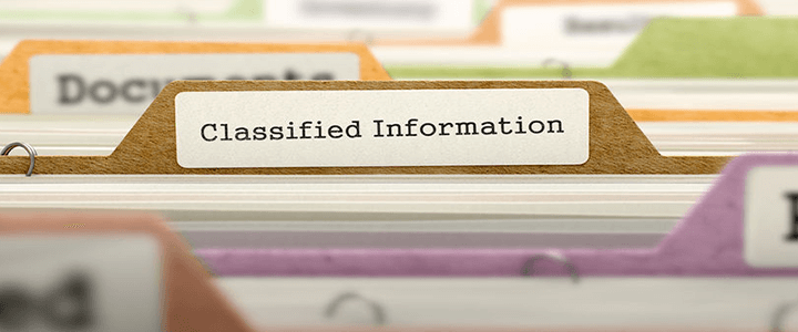 classified information file folder