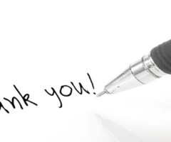 Thank You written on paper