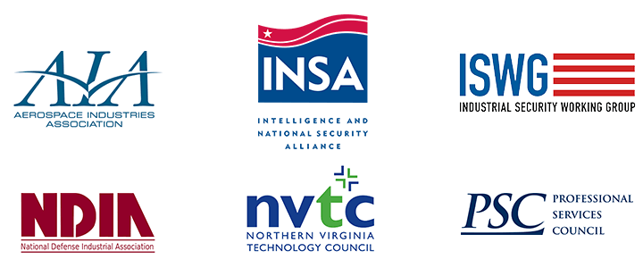 Logos for six national security groups