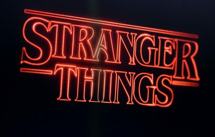 Stranger Things television show title graphic